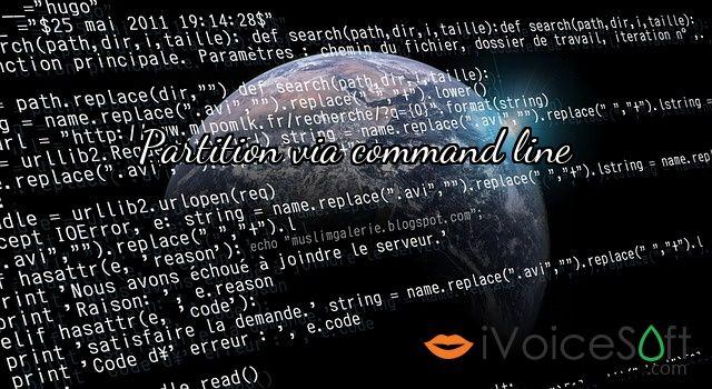 Partition via command line